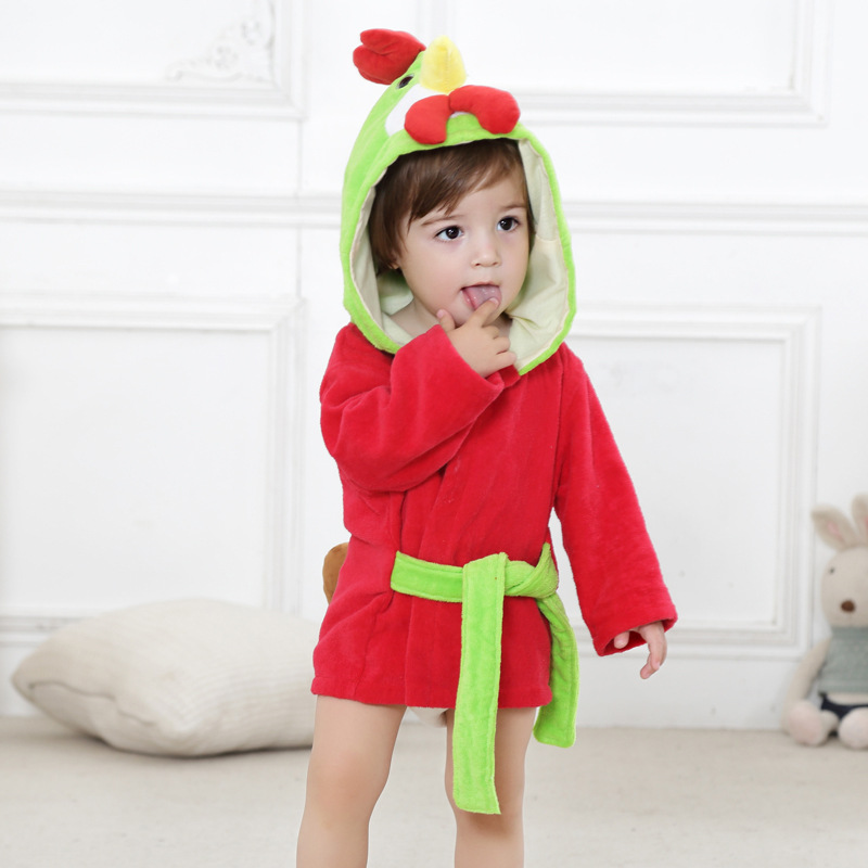6 стилей; детский банный халат с ворсом и шапкой; Банное полотенце с капюшоном для малышей; модельные пижамы с животными