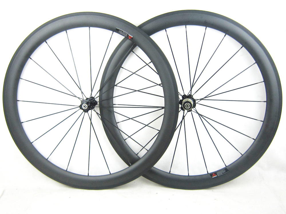 Matte finish cheap price carbon fiber road cycle wheel set 700C 50mm 21mm width Cos painting decals free