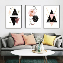 Geometry Abstract Minimalist Wall Art Canvas Nordic Poster Prints Painting Picture for Living Room Home Decoration