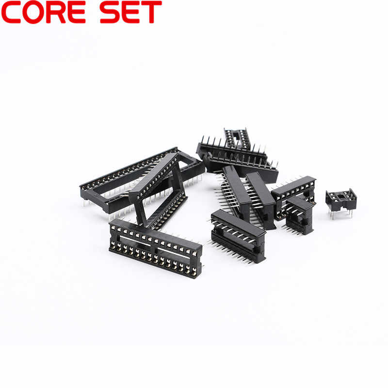 10PCS IC ซ็อกเก็ต DIP6 DIP8 DIP14 DIP16 DIP18 DIP20 DIP28 DIP40 pins ตัวเชื่อมต่อ DIP Socket 6 8 14 16 18 20 24 28 40 pin