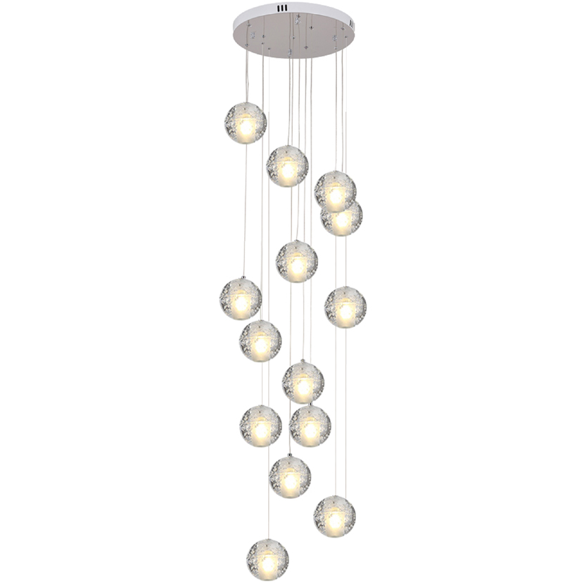 Meteor shower crystal Glass Ball Hanging Lamp Kitchen Creative Staircase Lamp Modern Pendant Light Stair Bar Cafes DroplightMeteor shower crystal Glass Ball Hanging Lamp Kitchen Creative Staircase Lamp Modern Pendant Light Stair Bar Cafes Droplight