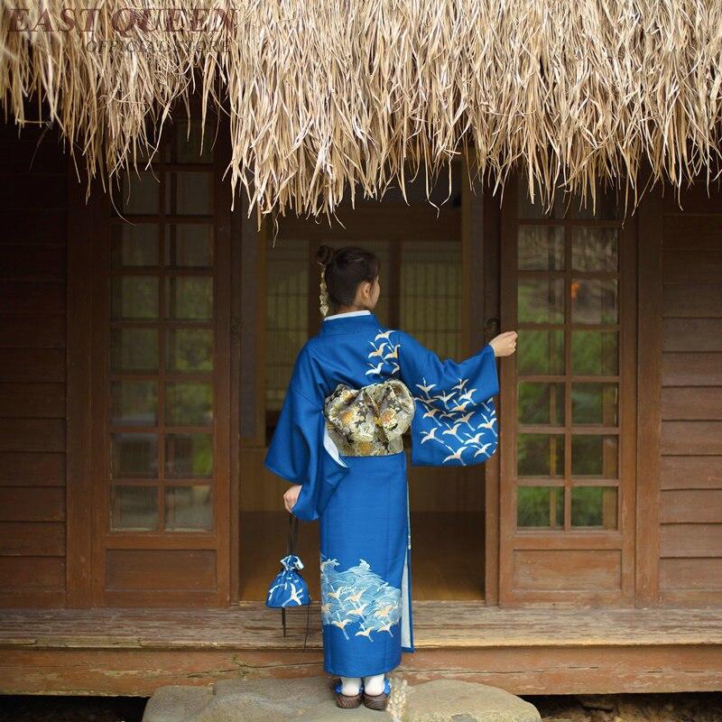 Kimono japonais robe traditionnelle cosplay femme yukata femmes haori japon costume de geisha obi japon asie robe KK2248 - 5