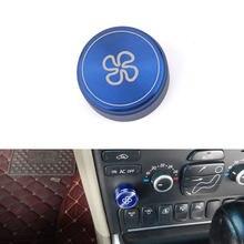 Botón de ventilador de aire acondicionado, botón de Control de volumen de Audio estéreo, cubierta de anillo para Volvo XC90 S80 2003-2012/S80 2006-2012 V70 2004-2013
