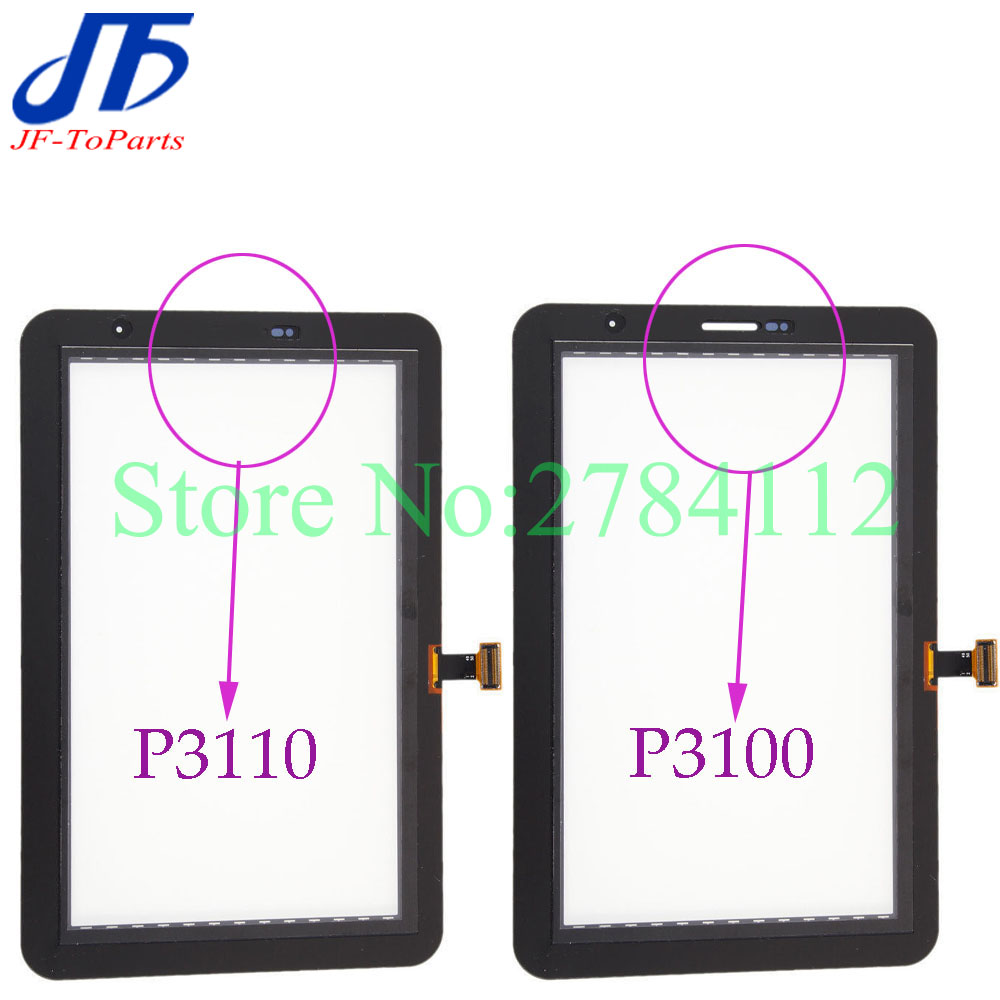 10Pcs P3100 P3110 Touch Screen replacement For Samsung Galaxy Tab 2 7.0 P3100 P3110 Touch Panel Digitizer white black colour
