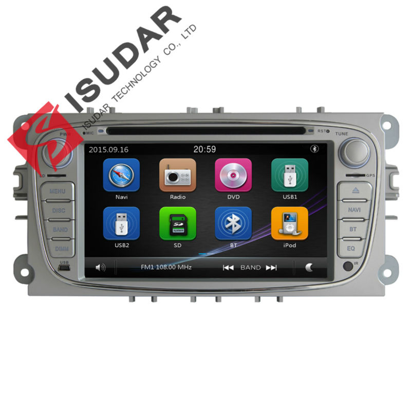 цена на Isudar Car Multimedia Player GPS 2 Din Car Radio Audio Auto For FORD/Mondeo/S-MAX/C-MAX/Galaxy/FOCUS 2 1080P Ipod LCD display fm