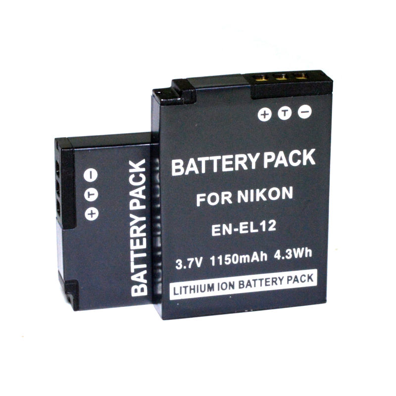 CONENSET 2PC Li ion Battery for Nikon Coolpix S1000pj S1100pj S1200pjv AW100s AW110 AW110s AW120 KeyMission