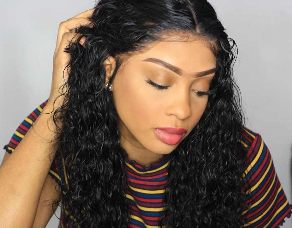 Halo Lady beauty предварительно выщипанные волнистые волосы на кружеве с естественной линией волос бразильские человеческие волосы 13x4 Фронтальная застежка не Реми