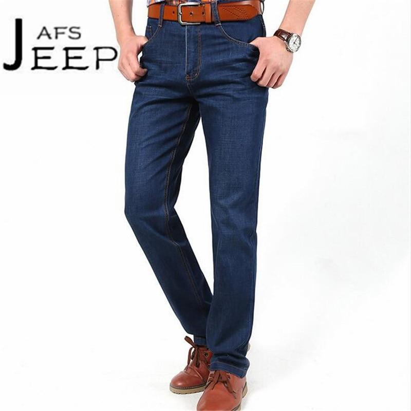 AFS JEEP Fashion Design 2017 Man's Jeans,Sky Blue Mid Waist Full Length Cargo Denim Trousers,Ventilate Military Active Jeans blue sky чаша северный олень