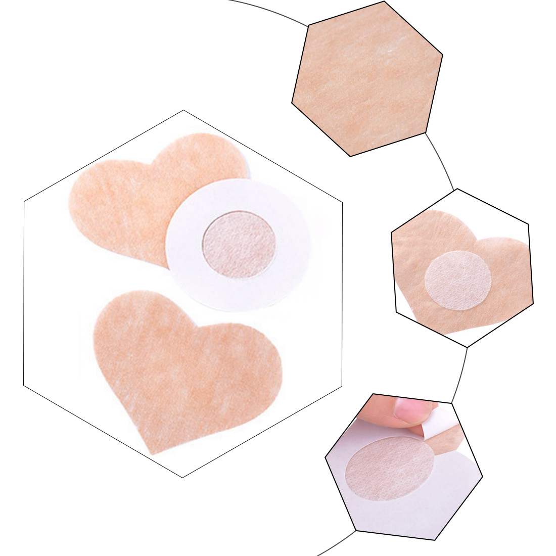 Fashion 10 Pcs=5Pair Breast Petals Sexy Disposable Soft Silicone Nipple Cover Bra Pad Pasties For Women Intimates Accessories