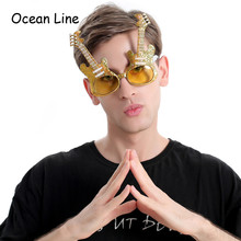 Decorated Guitar Costume Glasses Night Party Favors Eyewear
