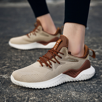 Hot Sale Four Seasons Running Shoes Men Lace-up Athletic Trainers Zapatillas Sports Shoes Men Outdoor Walking Sneakers Running Shoes
