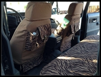 Yellowish brown leopard print casual canvas car seat covers 4wd seat cover function seat cover models customize for Ford Focus