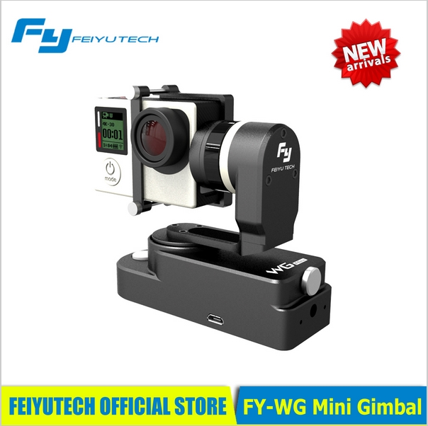 Feiyu FY WG Mini 2 Axis Wearable Gimbal for Gopro 3 3+ 4 Camera For Extreme Sport PK Feiyu WG SPG Original IN STOCK original feiyu tech fy wg lite wg series mental single axis wearable gimbal in stock