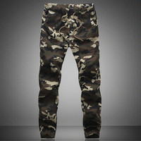 Outdoor Men S Cotton Combat Multi Pockets Utility Casual Loose Long Full Length Cargo Pants Work