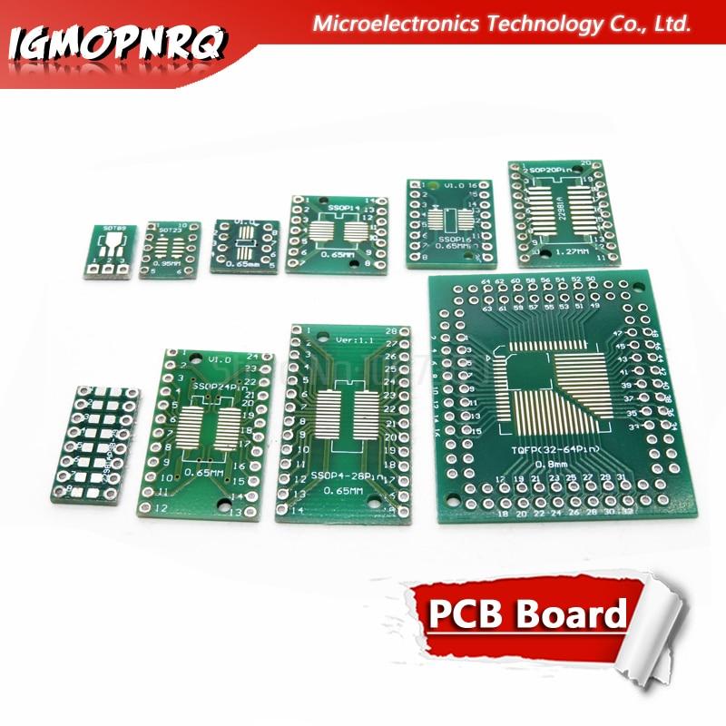 10 шт. плата PCB SMD для DIP SOP SSOP TSSOP SOT23 8 10 14 16 20 24 28 SMT для DIP адаптер конвертер пластина