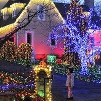 LED La Luz Solar Garden Blue String Lights Christmas Solar Lamps Party Decoration Outdoor Waterproof Street