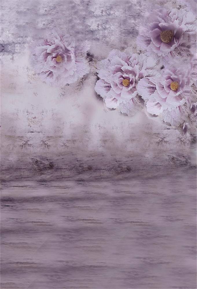 Laeacco Flowers Painting Gradient Color Baby Portrait Photography Backgrounds Customized Photographic Backdrops For Photo Studio