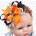 2 pcs Halloween Andorinha Borboleta Nó Hairband Do Bebê Meninas Headbands Recém-nascidos Menina Dos Desenhos Animados Morcego Hairband Bebê Acessórios de Bebes