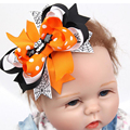 2 unids Macaón Nudo Hairband Vendas de Las Muchachas de Halloween Bebé Recién Nacido Niña de Dibujos Animados Murciélago Accesorios Hairband Del Bebé Bebes