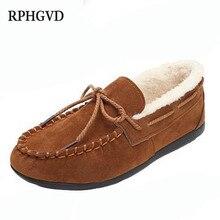 Женская обувь; коллекция года; замшевые бархатные теплые женские туфли на плоской подошве; однотонные хлопковые туфли; Женская Нескользящая повседневная обувь