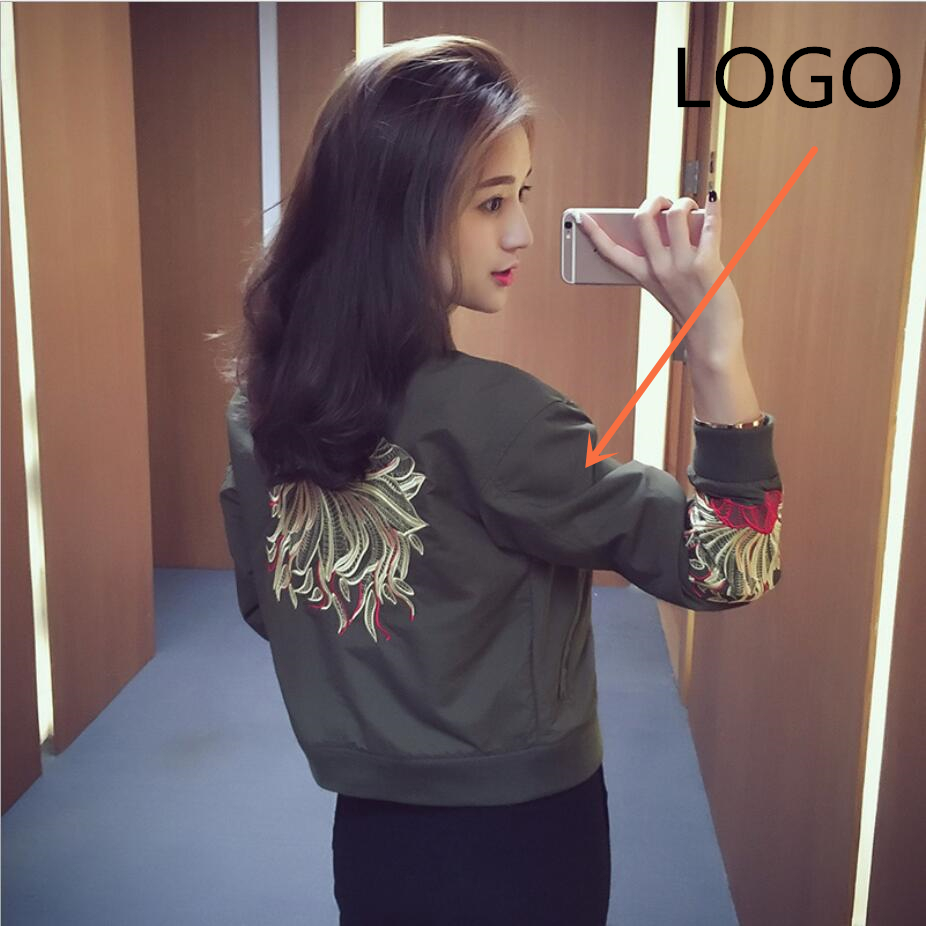 2019 new loose short bf shirt embroidered baseball uniform   jacket   spring and autumn Women's Clothing   Basic     Jackets