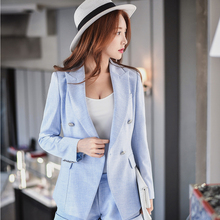 Dabuwawa new coming sky blue suit outwear for women
