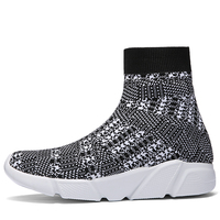 Quality Light High Top Breathable Sock Boots Man Beauty Men Sneakers Flat Casual Shoes Men Sneaker Male Black White Colorful