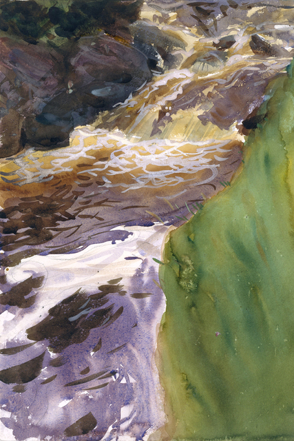 Landscape watercolor prints masterpiece copies canvas painting giant posters john singer sargent rivers from mountains