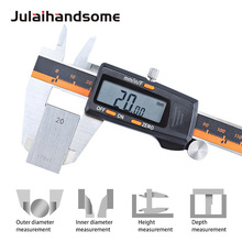 Julaihandsome Digital Vernier Caliper  Stainless Steel Electronic 3 Mode LCD Micrometer Depth 6 Inch Measuring Tools