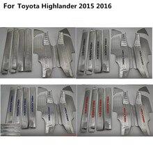 Высокое качество кузова из нержавеющей стали педаль порога Накладка внутренней построен порог 8 шт. для Toyota Highlander 2015 2016