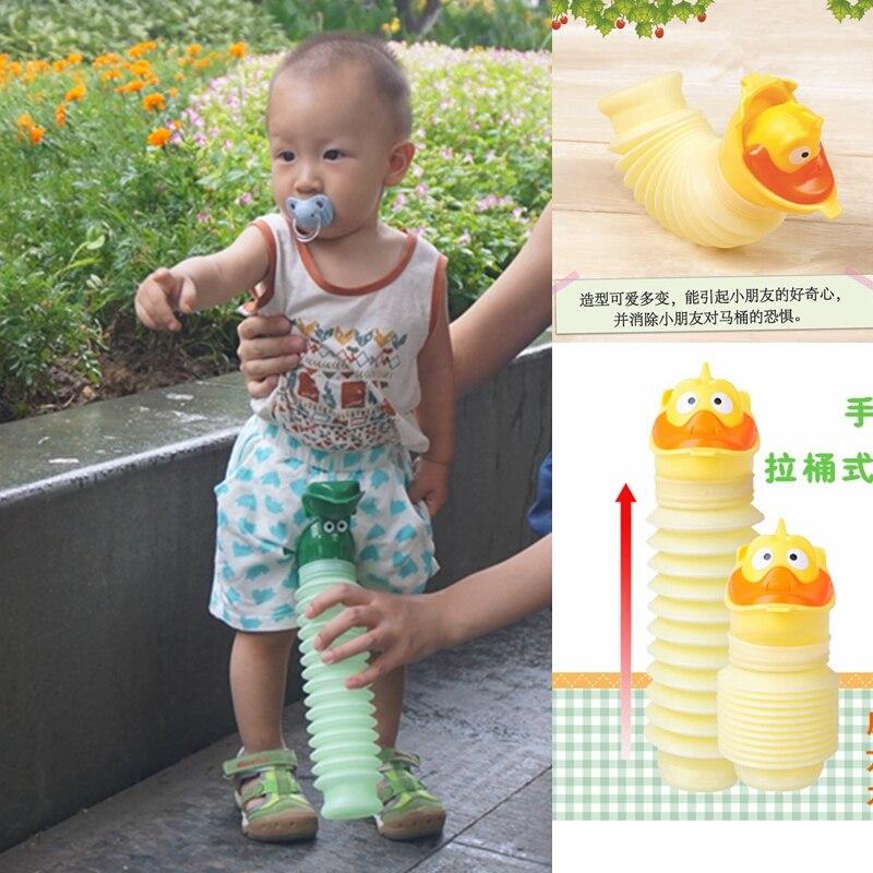 Inklapbare Eetstoel Baby.Leuke Inklapbare Auto Pee Pot Draagbare Kind Potje Urinoir Fles Voor