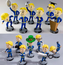 13cm Gaming Heads Fallout VaultBoy series 1&2 action figure collectible model toys for boys girls brinquedos(China)