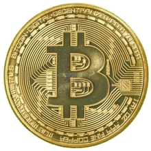 1pc Gold Plated Bitcoin Coin Collectible BTC Coin Art Collection Gift Physical#T025#