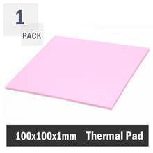 Pink thermal pad 100x100x1MM Heatsink Silicone Conduction Compounds Pad Free Shipping
