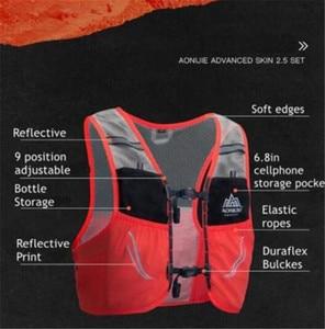 Image 4 - AONIJIE 2.5L Outdoor Leichte Trink Rucksack Rucksack Tasche Weste Wandern Camping Lauf Marathon 500ML Weiche Glaskolben