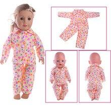 Söt docka pyjamas, lämplig för 18 tums amerikanska tjej dockor, 43cmzapf dockor ger barn de bästa gåvorna dockor tillbehör