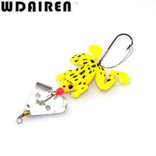 1PCS 8cm 6.2g spiral Frog Tackles Spinning Soft Fishing lure Artificial weest blackfish Striped bass fishing Bait NE-281
