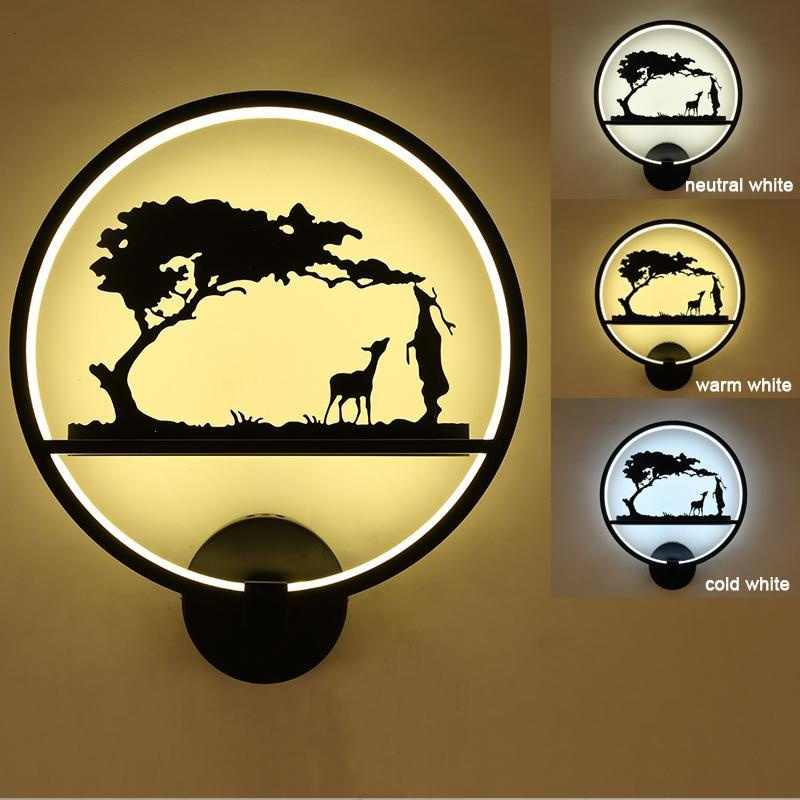 New modern LED wall lamp pattern decor bedroom dining room living room interior lighting fixtures
