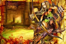 DRAGONS anime action fantasy family medieval fighting bow girl Home Decoration Canvas Poster
