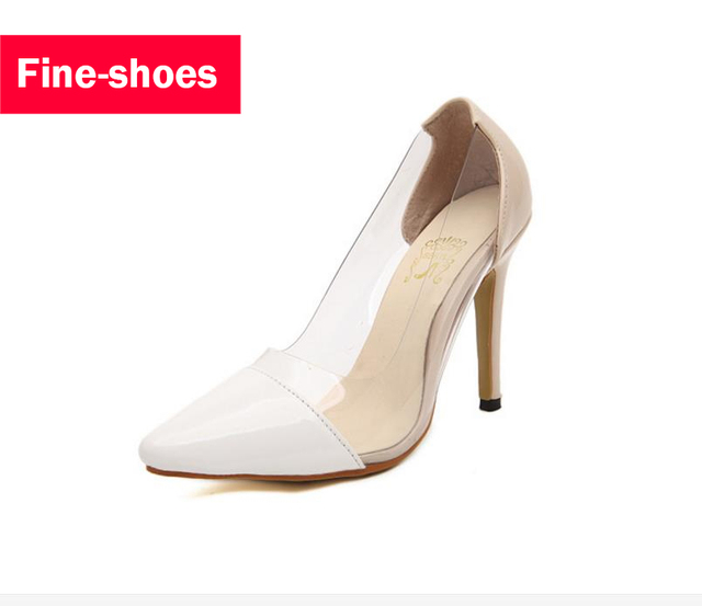 High Heels Sexy Brand New Fashion See-Through Pointed Toe Women Shoes Thin Heels High-Heeled Shoes Women Pumps Height big sale cost buy cheap in China pictures vmhaVASj8d
