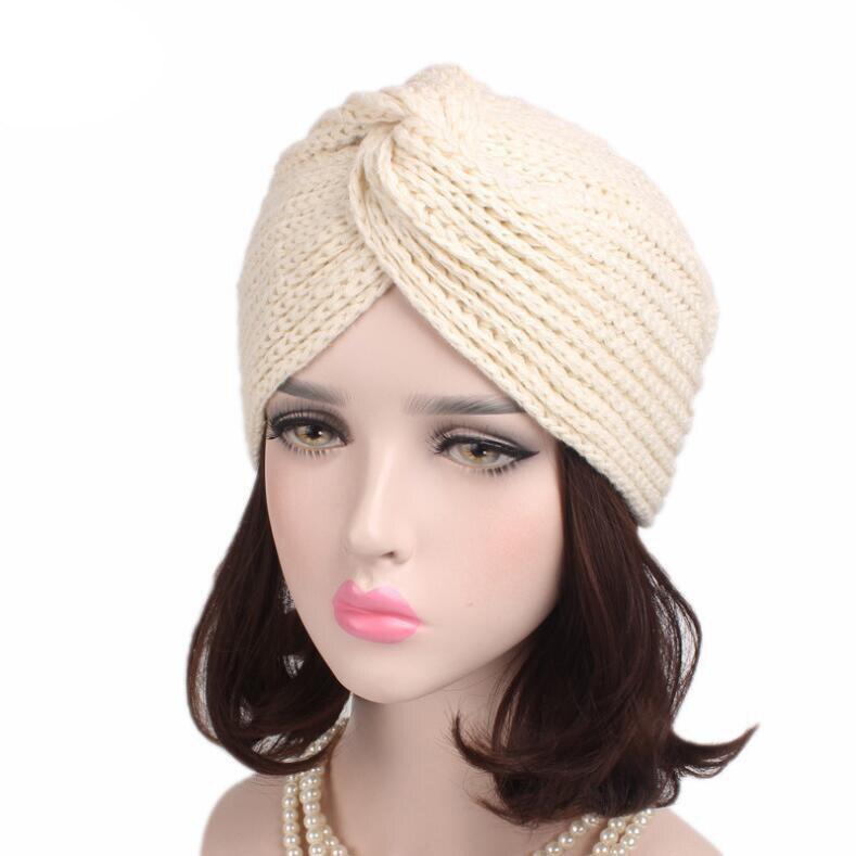 2469681149f8e 2017 Fashion women winter warm hats crossed India hat twist Turban hats  soft knit Beanie crochet headwrap women hat cap headwear-in Skullies    Beanies from ...