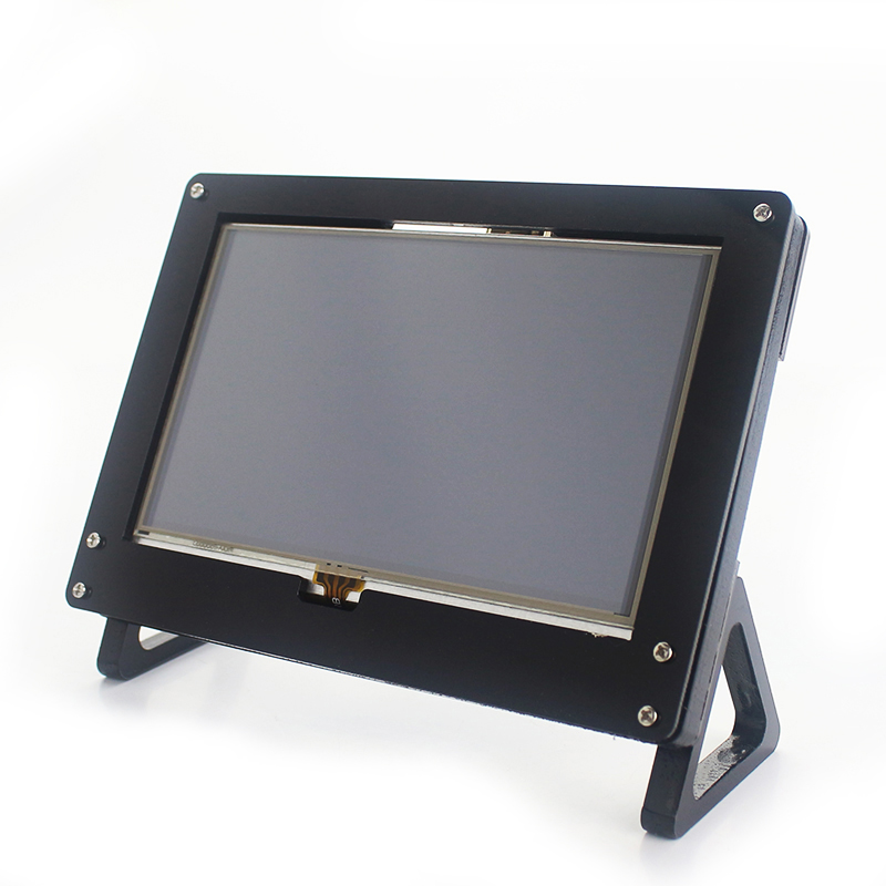 For Raspberry Pi 3 B 5 Inch LCD Screen Display Acrylic Case Stander Holder Set