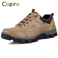 COPIRO Big Size Genuine Leather Hiking Shoes Men Outdoor Sport Sneakers Waterproof Camping Climbing Trekking Sapato