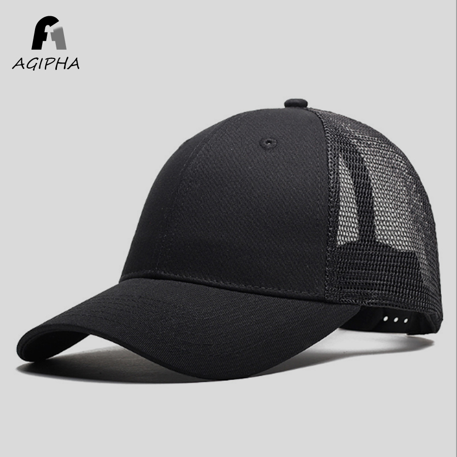 New Type Casual Solid Cotton Truck Cap For Women Men Black White Summer Baseball Cap Cool Mesh Snapback Dad Hats Free Shipping 2016 new new embroidered hold onto your friends casquette polos baseball cap strapback black white pink for men women cap