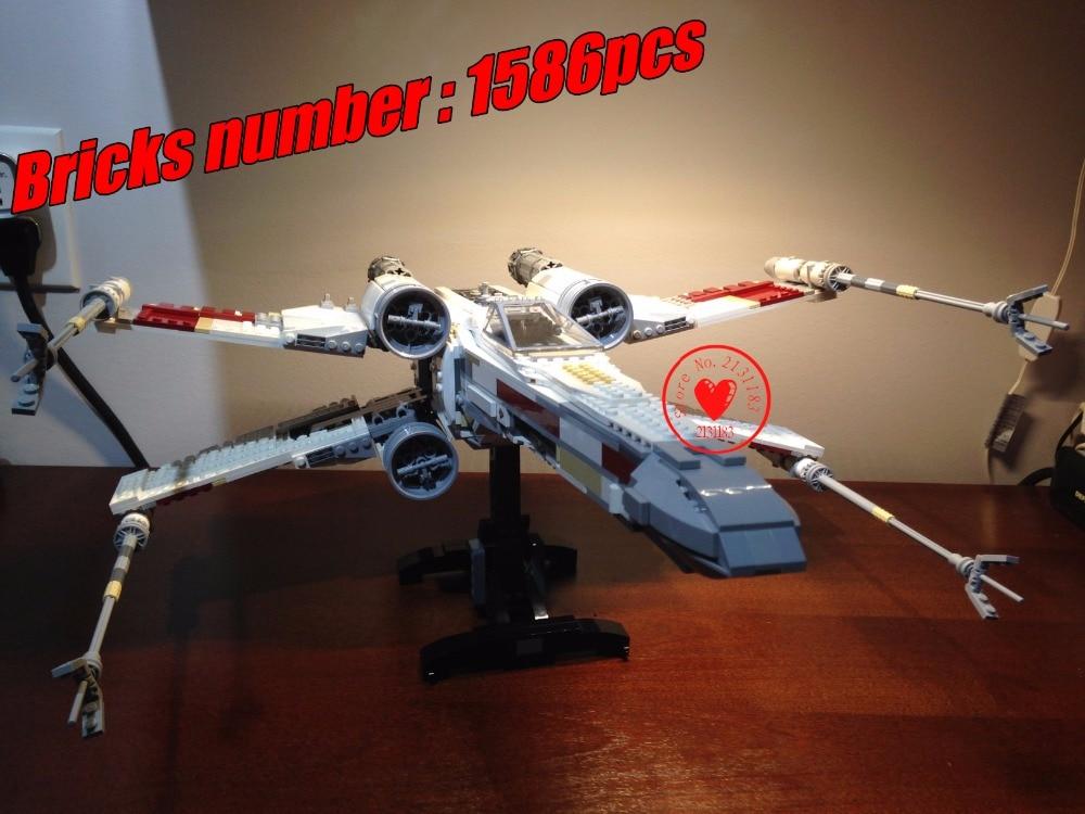 10240 Star wars Series UCS X-wing Rebel Red Five X-wing model Building Blocks Bricks 10240 compatiable legoes gift kid Star wars