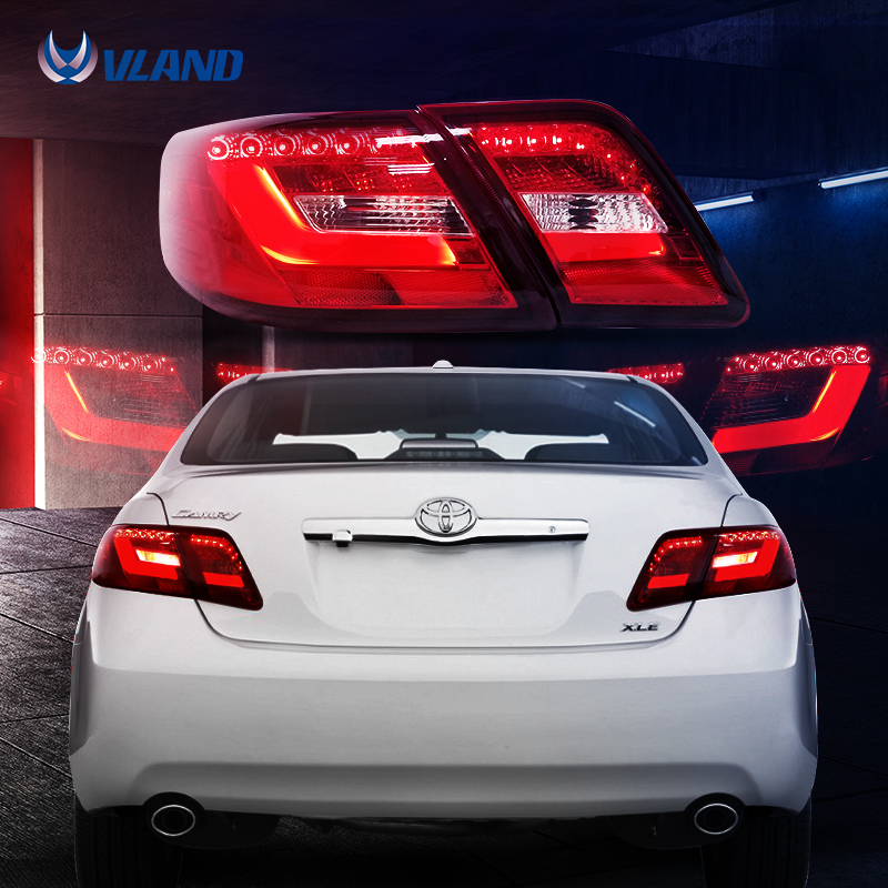Vland Car Styling For 2007 2011 Toyota Camry Tail Light Led Taillight Assembly Rear Lamp
