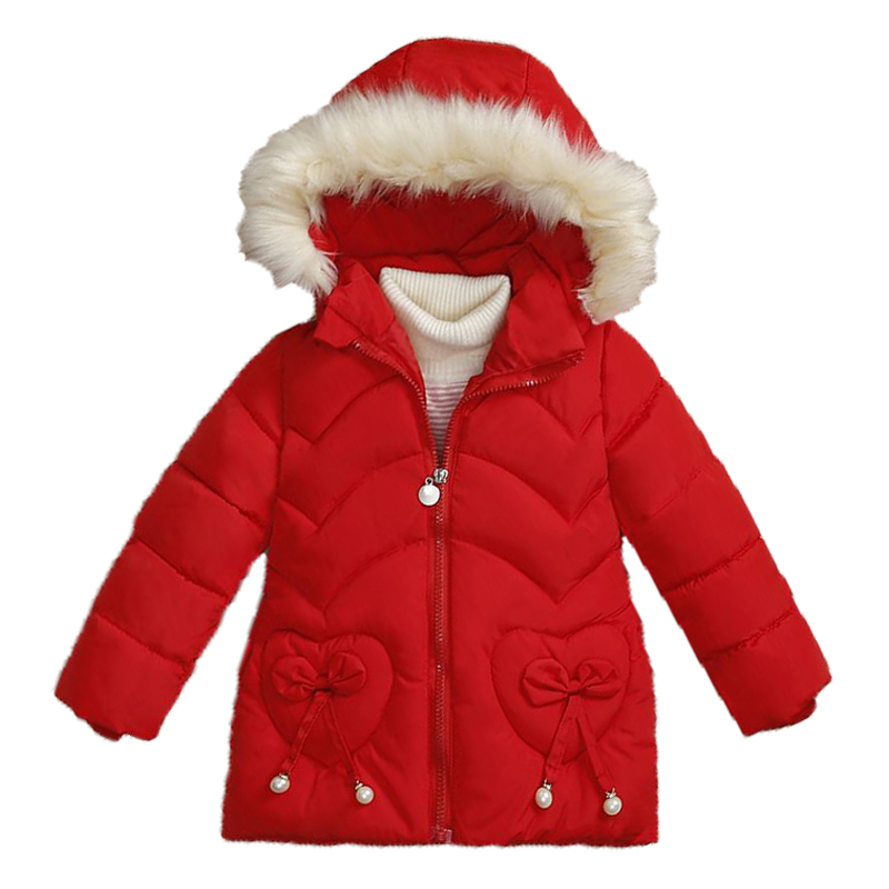 Autumn Girls Jackets Children Clothing Coat Baby Kids Winter Warm Hooded Outerwear For Jacket Girl Fashion Cute Thicken Coat Hat