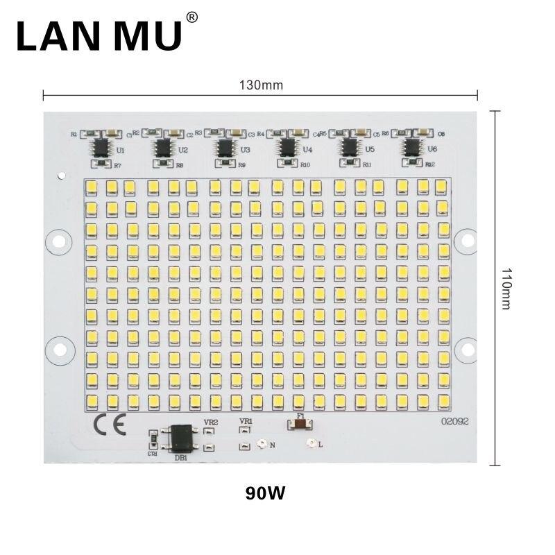LAN MU 6pcs LED Lamp Chips 220V 2835 SMD Bulb Smart IC Led Light Input 10W 20W 30W 50W 90W For Outdoor FloodLight in LED Bulbs Tubes from Lights Lighting