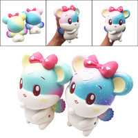 Squishy Kawaii Hamster Squeeze Toy Stress Relief Animals Slow Rising Toys For Girls Cartoon Mouse Toys