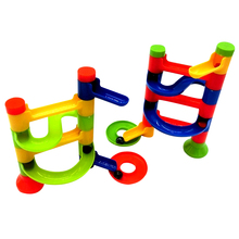 Baby Kid's DIY Building Blocks Educational Track Construction Marble Race Run Maze Balls Track Game Orbit Ball Toy